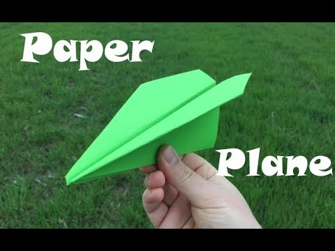 How To Make a Paper Airplane Straight Line Fly. Best Easy Paper Airplanes. Easy and Fast