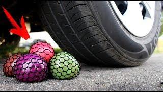 EXPERIMENT: CAR VS TOYS SLIME ANTISTRESS