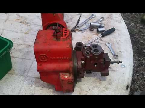 Case 885 Removing Hydraulic Control Valve 4