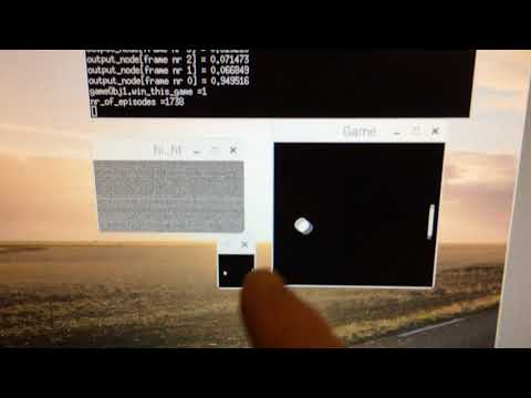 Reinforcement Machine Learning Pong from Pixel C++ Raspberry Pi
