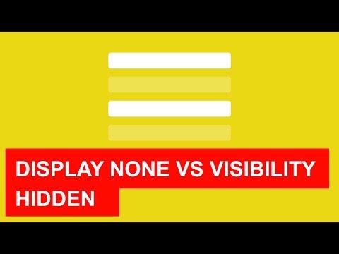 Display none vs Visibility hidden (Quick tutorial)