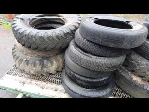 1000 pounds of used tires