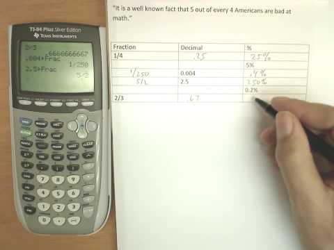 Review percents, fractions, decimals