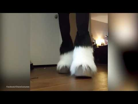 Be ahead of the herd by cantering in furry horse hoof boots