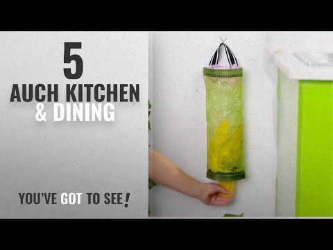 Auch Top 10 Kitchen & Dining [2018]: AUCH 1Pcs Hanging Folding Mesh Garbage Bag Organizer Trash Bags
