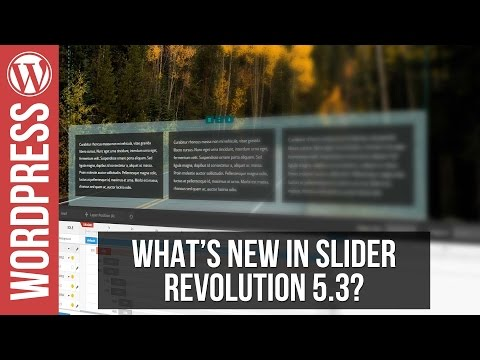 What's New In Slider Revolution 5.3 - Object Library, Layer Groups & More
