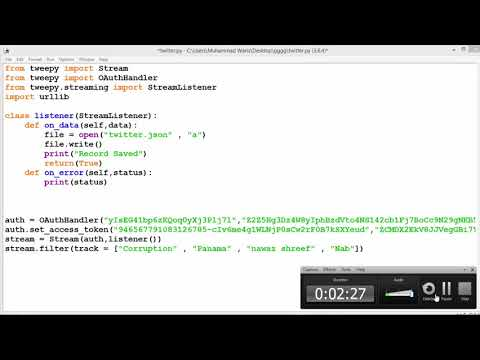 How To Extract Tweets From Twitter Using Python and Load Into File In Urdu/Hindi Part 6