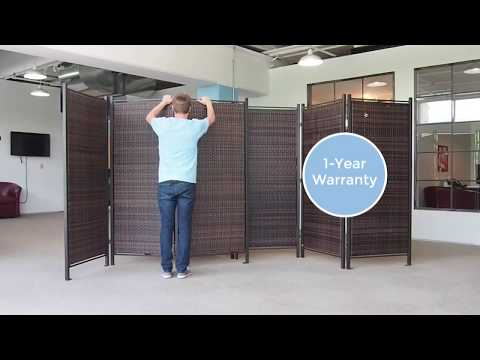 Versare's Folding Wicker Screens Create Indoor or Outdoor Privacy