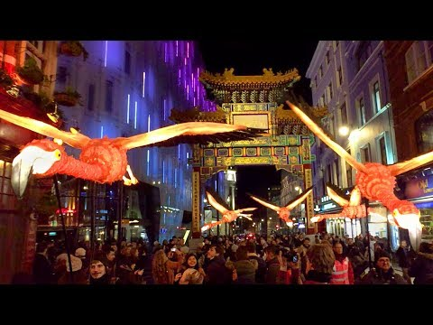 Lumiere London 2018 - WEST END incl. Oxford Circus, Regent Street, China Town - Light Festival Walk