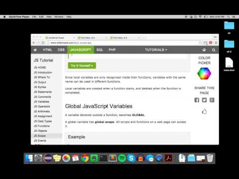 Local vs Global Scope (JavaScript)