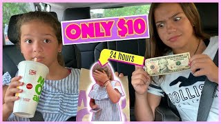 EATING  FOR 24 HOURS ONLY WITH ONLY $10 DOLLARS CHALLENGE   SISTER FOREVER