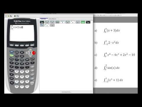 TI 84 - Integrale numerisch lösen mit dem Grafikrechner