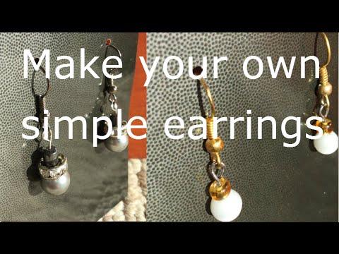 How to make simple dangle earrings