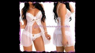 Babydoll Ensueño Blanco   Lencería sexy para mujeres