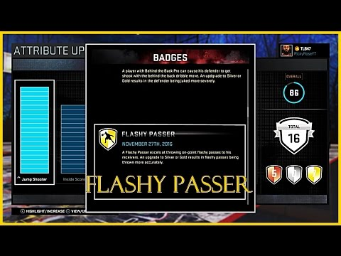 NBA 2K16 - How To Get The Flashy Passer Badge