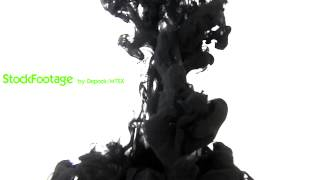 Stock Footage - Ink Drop in Water - Royalty free Video clip
