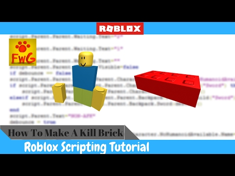 How To Make A Kill Brick In Roblox Studio 2017!