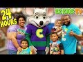 24 HOURS OVERNIGHT CHALLENGE IN CHUCK E CHEESES!!!!!