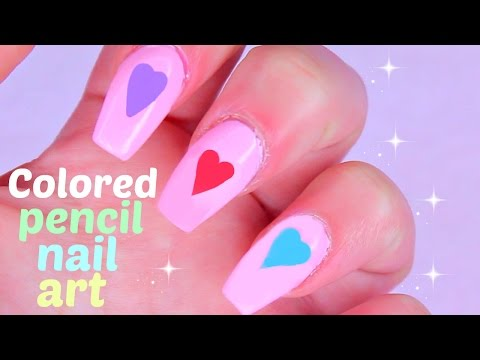 DIY Nail Art using COLORED PENCILS!