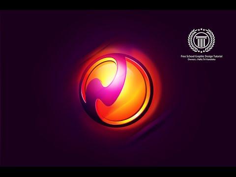 Create 3D Vector Sphere Logo Design in Adobe illustrator CC
