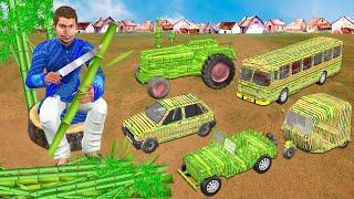 गरीब बेटा मिनी बांस वाहन Garib Beta Mini Bamboo Vehicles Hindi Kahaniya हिंदी कहानी Comedy Video