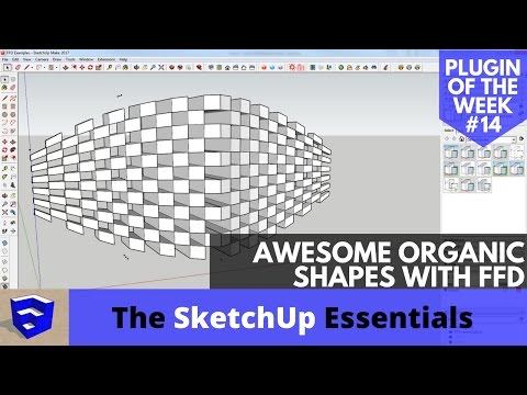 Flowify plugin Sketchup Part 2 - Organic Shape Sketchup Plugin