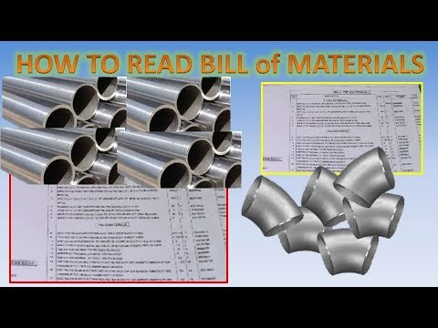 How To Read BILL of MATERIALS in Isometric Drawing? NEW PIPE FITTER