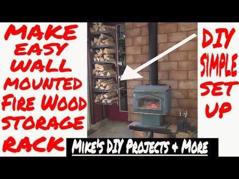DIY Easy Fire Wood Storage Rack