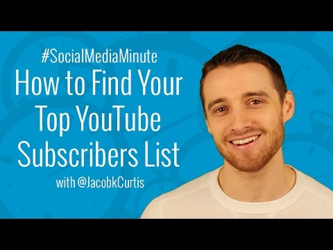 [HD] How to Find Your TOP YouTube Subscribers List - #SocialMediaMinute