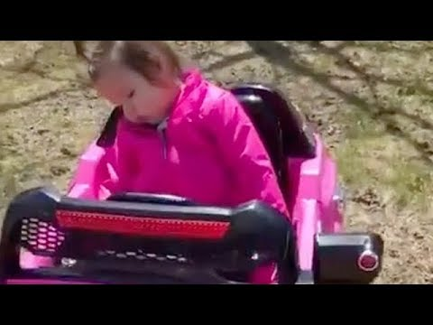 Sleepy Toddler Refuses To Leave Toy Car