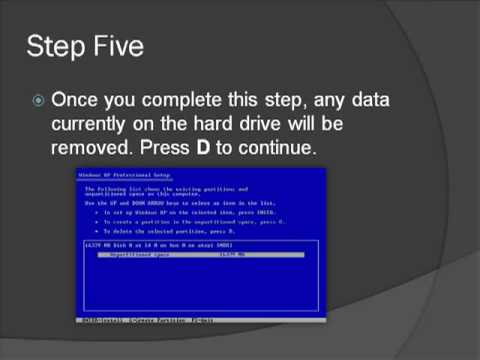 Install Operating System and Formatting Hard Drive - Tutorial