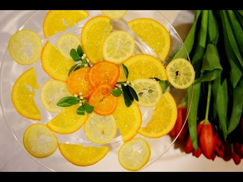 Candied Lemon Slices Recipe - Candied Lemon Citrus Snacks - Heghineh Cooking Show