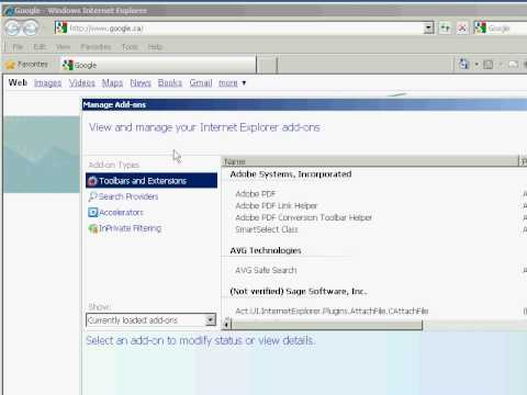 How to Enable/Disable Browser Add-ons in Internet Explorer