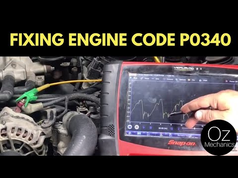 How to fix code P0340.  A new cam sensor will not repair this car.