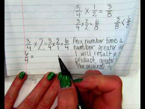 Lesson 7 5 compare fraction factors and products