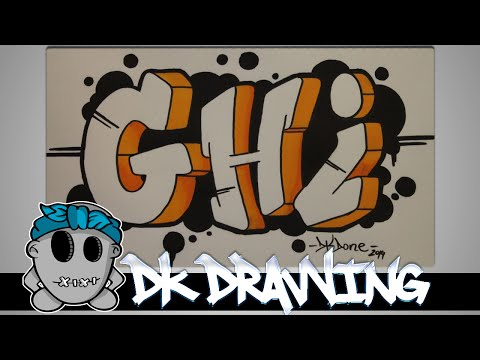 How to draw graffiti  - Graffiti Letters GHI step by step