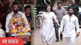 Sachiin Joshi With Wife Urvashi Sharma At Sanjay Dutt's Ganpati Visarjan