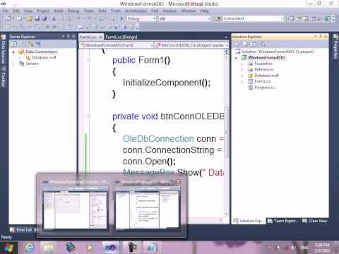 51-  Course C# Resala   ADO NET   Explain OLEDBConnection  Connect to Access, SQLServer, Oracle