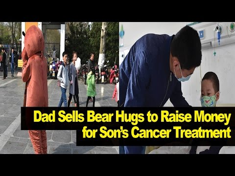 Desperate Dad Sells HUGS in Bear Suit to Fund Son's Cancer Treatment