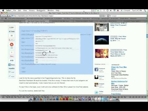 Mac Virus: Flashback. How to Check for/ Get rid of