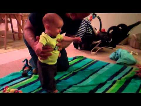 Teaching Benjamin how to crawl