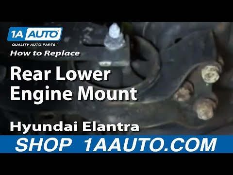 How To Replace Install Rear Lower Engine Mount 2001-06 Hyundai Elantra