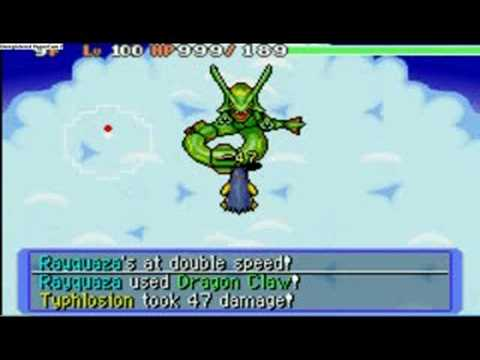pokemon blue mystery dungeon getting rayquaza