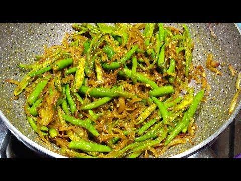 खाने का स्वाद चौगुना करना है तो बनायें चटपटी हरी मिर्च प्याज की सब्जी - Hari mirch Pyaaj ki sabzi