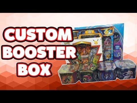 Custom Pokemon Booster Box Of Pokemon Cards Opening| Pokemon Tins+Boxes+Blister Booster Packs