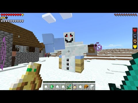 How To Spawn the Snow Golem Boss in Minecraft Pocket Edition