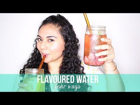 DIY / HOW TO MAKE FLAVOURED WATER - 4 WAYS. My Summer Favourite! | Rebecca Dawson