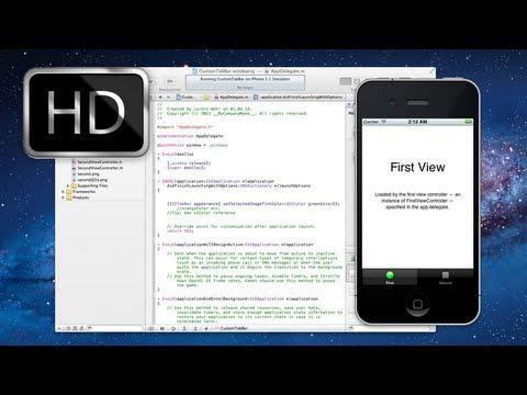 Xcode 4.3.2 iPhone SDK Tutorial - Custom colored TabBar Icons HD