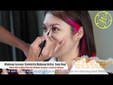 How to make your face look slimmer by contouring - May Makeup tutorials with Sam Ong EP 3