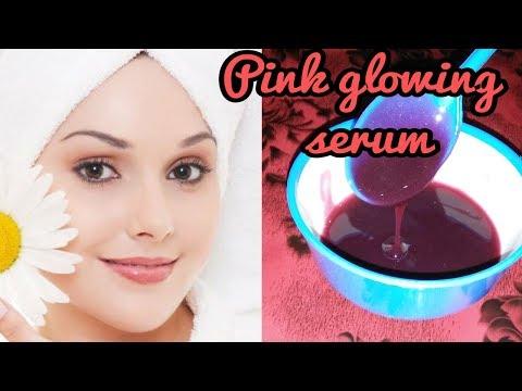 Make Pink glowing serum at home/get pink glowing skin and fair skin.